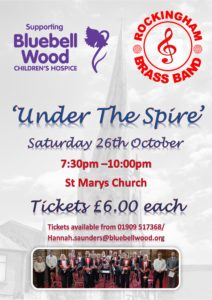'Under the Spire' with Rockingham Brass Band - in aid of Bluebell Wood Children's Hospice