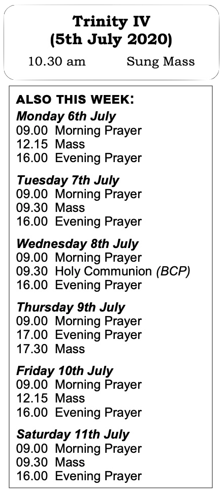 Trinity Week 2 services