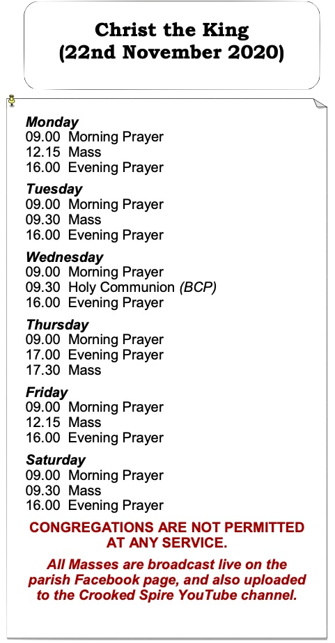 Christ the King - Services List