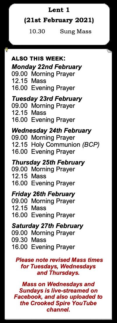 Services for Lent 1